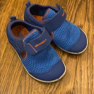 Merrell baby shoes blue and orange